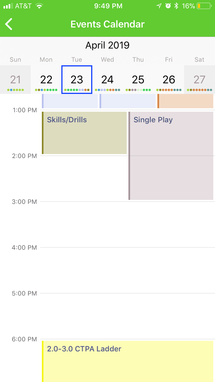 clip of app events calendar